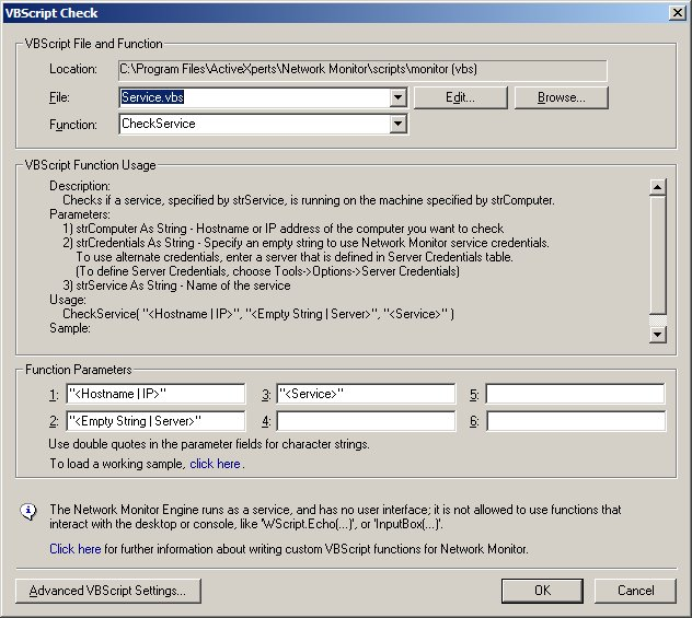 Service vbs - Monitor a Windows service or multiple services using