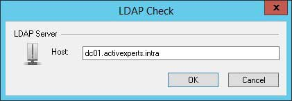 ActiveXperts Network Monitor LDAP check